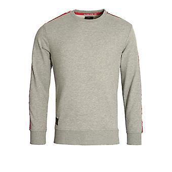 Alpha Industries RBF Taped Crew Neck Sweat Shirt | Grey Heather