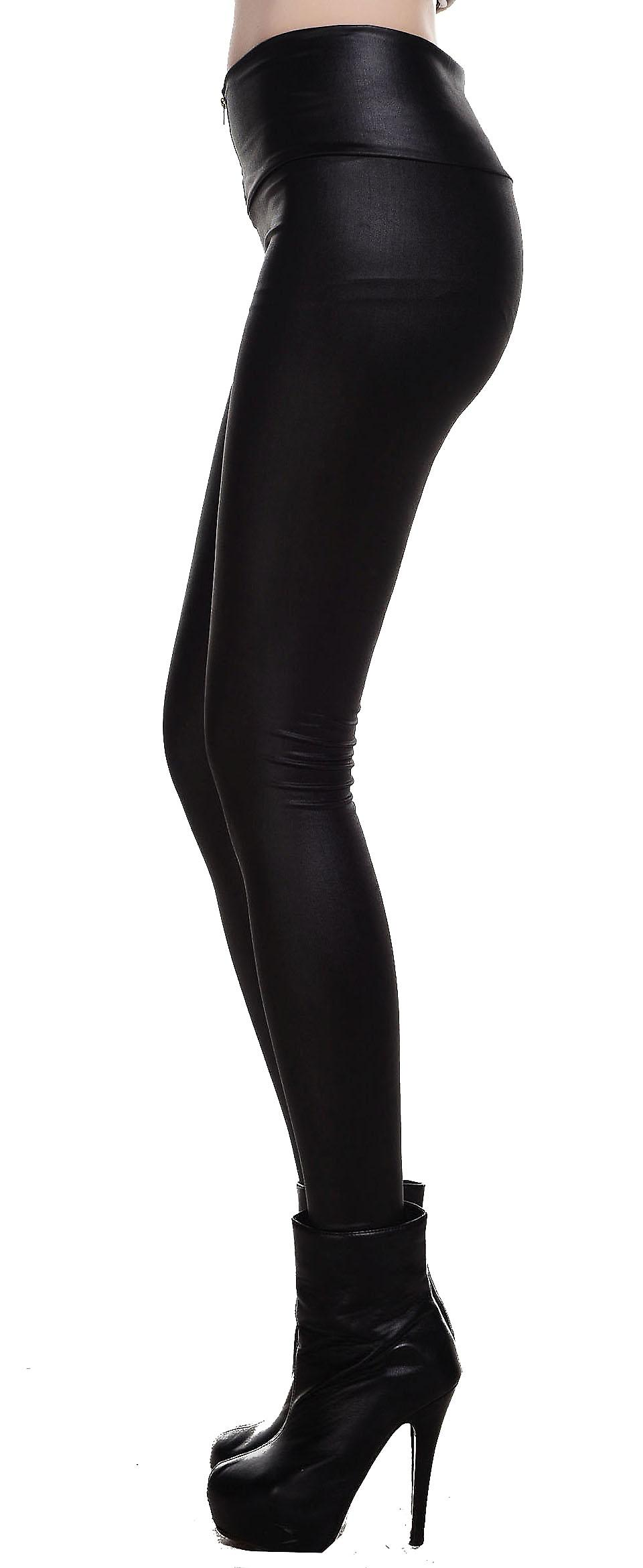 Waooh - Fashion - leggings leatherette zipper at the front