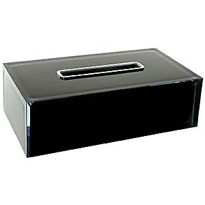Gedy Rainbow Rectangular Tissue Box Black RA08 14