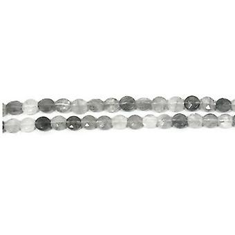 Strand 45+ Silver Quartz 8mm Faceted Coin Beads CB42522-1