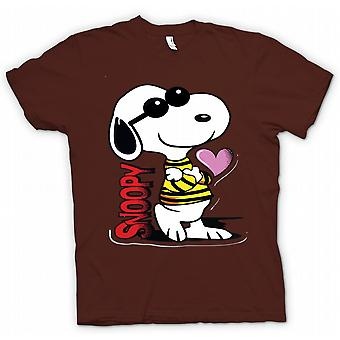 Womens T-shirt - Snoopy Cartoon With Heart