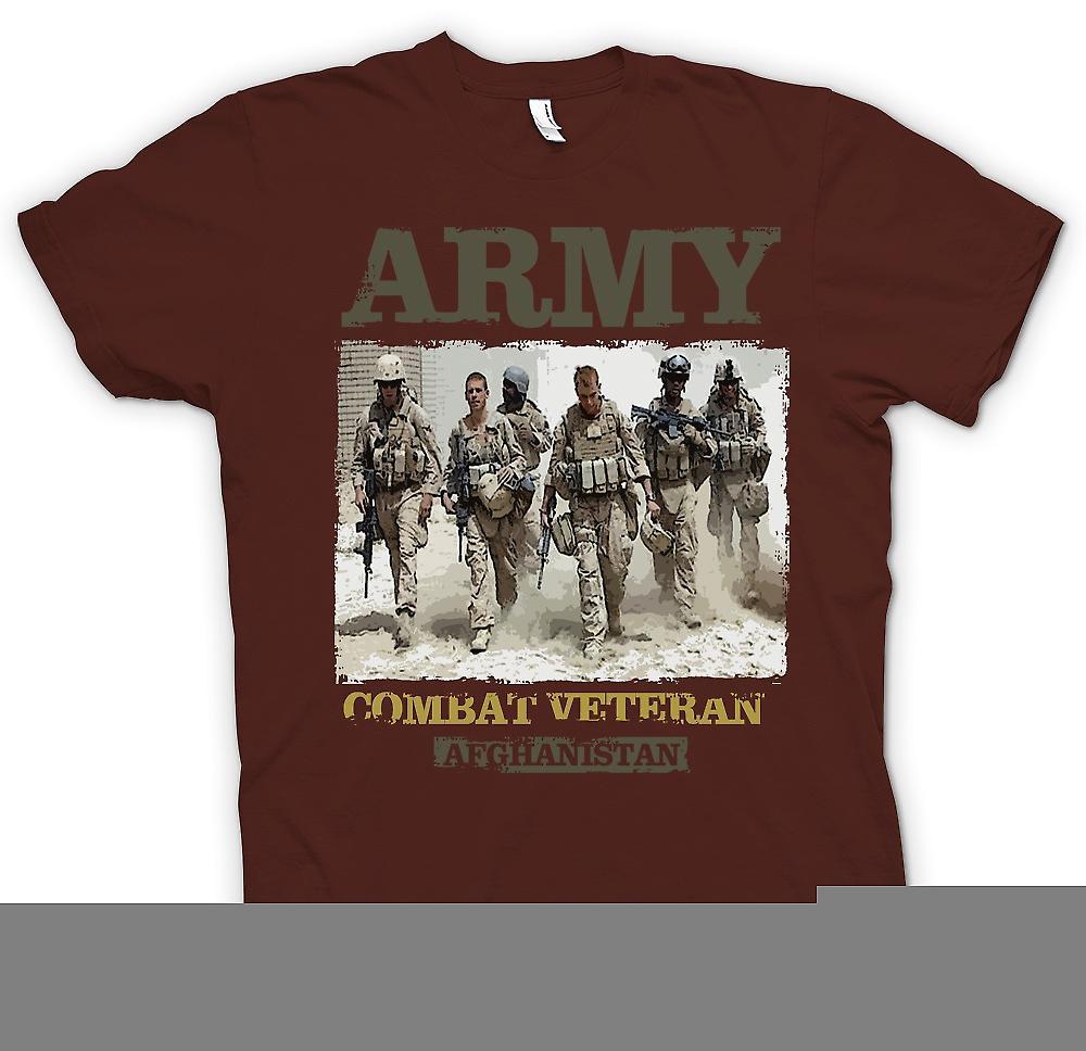 Mens T-shirt - Armee-Kampf-Veteran - Afghanistan