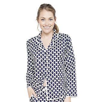 Cyberjammies 4062 vrouwen Rosie Navy blauwe pyjama's Top