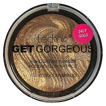 Technic Get Gorgeous Highlighting Powder ~ 24ct Gold