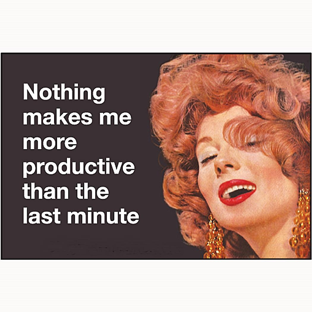 Nothing Makes me More Productive... funny fridge magnet   (ep)
