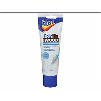Polycell Polyfilla For Wood General Repairs White Tube 330g