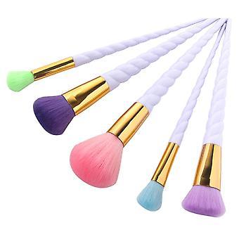 5pcs makeup brushes-Unicorn-Rainbow