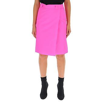 Falda de algodón rosa de Prada