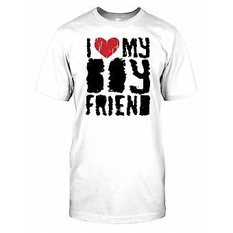 I Love My Girlfriend - Funny Kids T Shirt