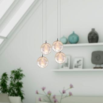 Antique Aura Nickel plafond pendentif lumière quatre pendentif carré couvert lampe à suspension
