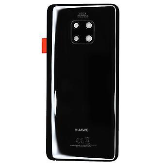 Echte Huawei Mate de deksel van het batterijvakje van 20 Pro zwart Dual SIM | iParts4u