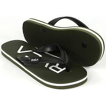 RVCA Mens VA Sport grøft Town Thong sandaler - blad grønn