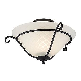 Stead-1 Light Flush Ceiling Light Black-TCH/F BLACK