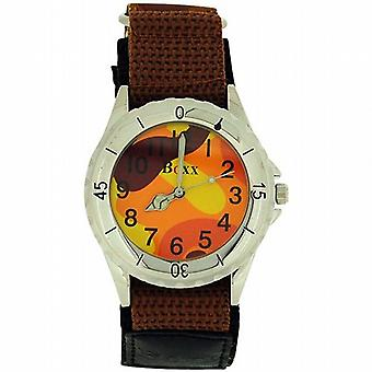 Boxx Brown Army Camouflage Velcro Strap Boys Sports Watch
