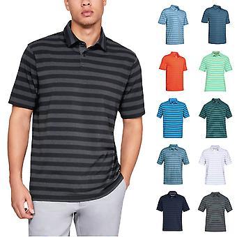 Under Armour Mens 2019 CC Scramble Stripe Polo camicia
