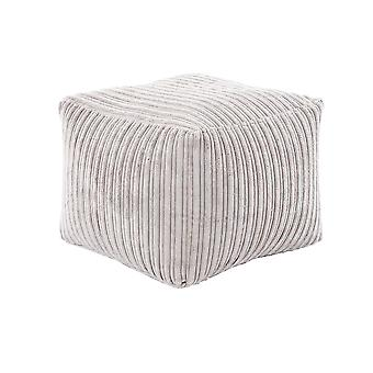 Mink Square Bean Bag Footstool Pouffe Seat in Soft Jumbo Cord Fabric