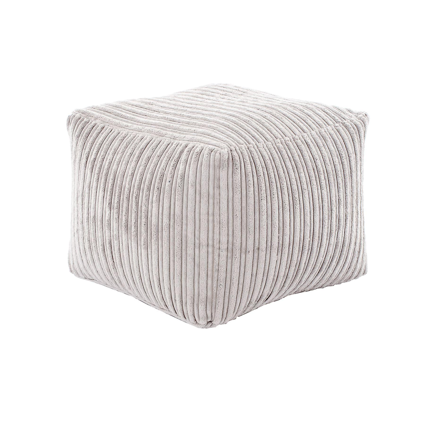 Mink Bag Pouffe Square Bean Cord Fabric Footstool Jumbo Soft Seat In yvnPm8ON0w