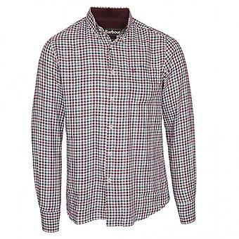 Barbour Long Sleeve Ancroft Shirt, Purple