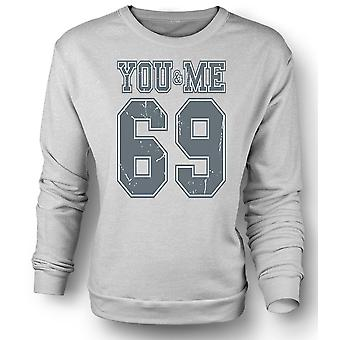 Kids Sweatshirt You And Me 69 - College Football - Funny
