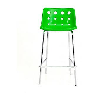 Loft Robin Day 4 Leg Green Plastic Polo Bar Sgabello