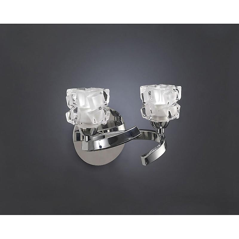 Ice Wall Lamp Switched 2 lumière G9 Eco, Polished Chrome
