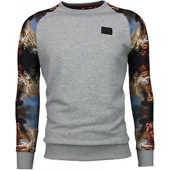 Mytologi arm motiv-Sweatshirt-grå