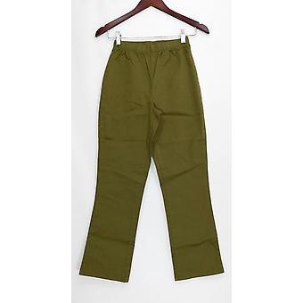 Denim & Co. Petite Leggings Stretch Boot Cut Green A01724