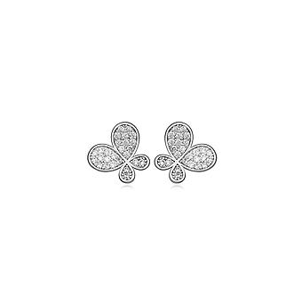 Rhodium and Cubic Zirconia White-plated earrings