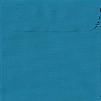 Petrol Blue Peel/Seal 160mm Square Coloured Blue Envelopes. 100gsm Swiss Premium FSC Paper. 160mm x 160mm. Wallet Style Envelope.