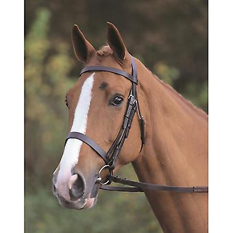 Shires Aviemore Plain Bridle With Rubber Grip Reins - Black