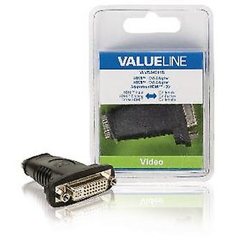 Valueline Adapter Hdmi Dvi Dvi With HDMI Female Black (DIY , Electricity)