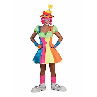 Clown Dress Cheryl Costume Women's Fool Circus Funmaker Carnival Women's Costume