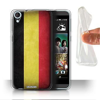 STUFF4 Gel/TPU Case/Cover for HTC Desire 820s Dual/Belgium/Flags