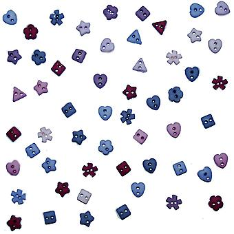 Dress It Up Embellishments-Tiny Roses Buttons DIUBTN-2211