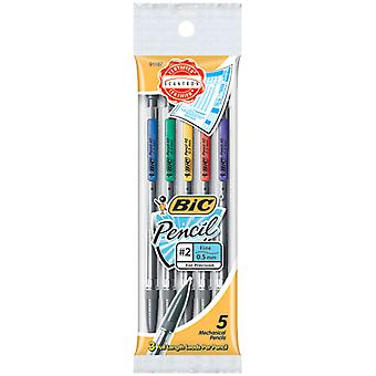Bic Mechanical Pencil .5Mm 5 Pkg Assorted Colors Mpfp51