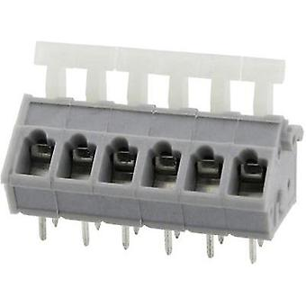 Spring-loaded terminal 3.31 mm² Number of pins 6 DG243-5.0-06P-11-00AH Degson Grey 1 pc(s)