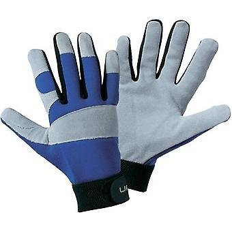 Upixx 1651 Grey, Blue Split Leather and Elasthan Utility ISO Gloves XL