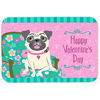 Happy Valentine's Day Pug Mouse Pad, Hot Pad or Trivet VHA3002MP