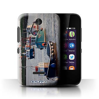 STUFF4 Case/Cover for Nokia Asha 230/Boats/British Coast