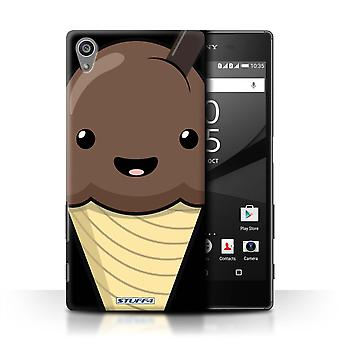STUFF4 Case/Cover for Sony Xperia Z5/5.2/Chocolate Ice Cream/Kawaii Food