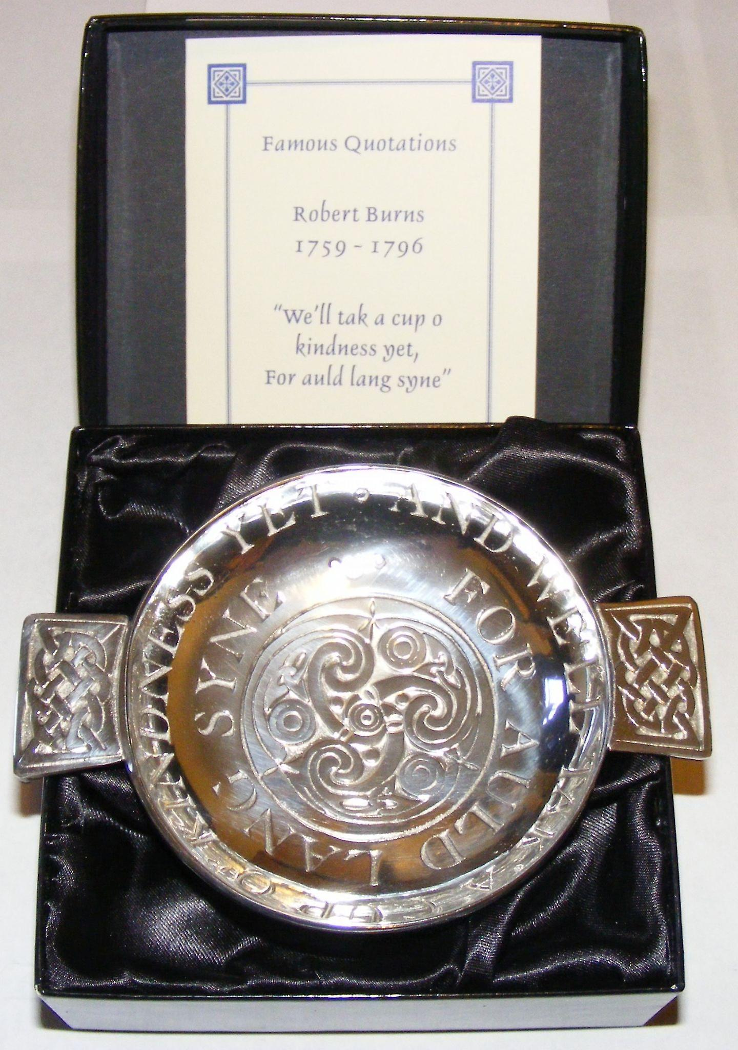 Auld Lang Syne Pewter Quaich - 130mm
