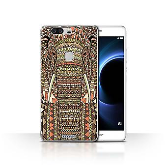 STUFF4 Case/Cover for Huawei Honor V8/Elephant-Sepia/Aztec Animal