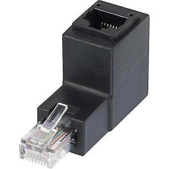 RJ49 Networks Adapter CAT 5e [1x RJ45 plug - 1x RJ45 socket] 0 m Black Renkforce