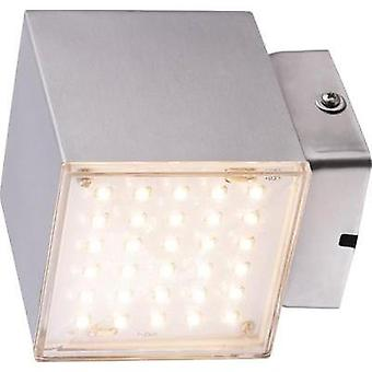 LED outdoor wall light 7 W Warm white Heitronic Kubus 35272 Stainless steel