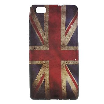 UK flag gummi TPU dækning for Ascend Huawey P8 Lite