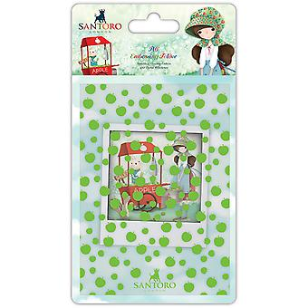 Santoro Kori Kumi A6 Embossing Folder-An Apple A Day SKKEBOS1