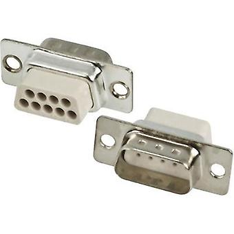 D-SUB pin strip 180 ° Number of pins: 9 Crimp MH Connectors MHDBC09SP-NW 1 pc(s)