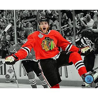 Patrick Kane celebrates his first goal Game 5 of the 2013 Stanley Cup Finals Spotlight Photo Print (8 x 10)
