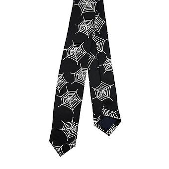 SpiderWeb печати тощий галстук галстук галстук паутина
