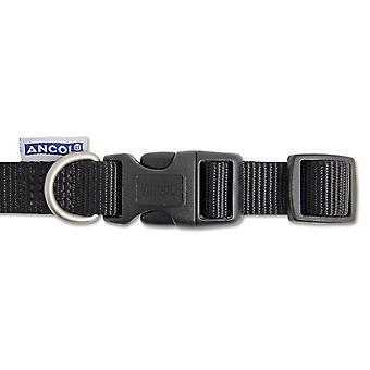 Heritage Nylon Adjustable Collar Black 19mm X25-50cm Sz2-5